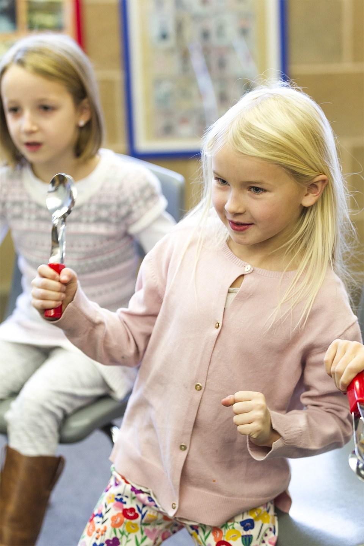girl dancing in music class
