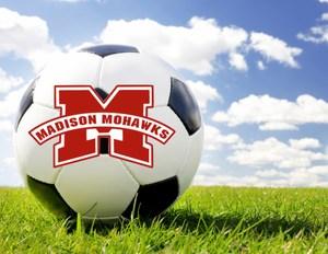 soccer ball and mohawk logo