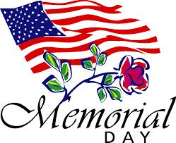 Memorial Day Image (U.S. Flag/Flowers)