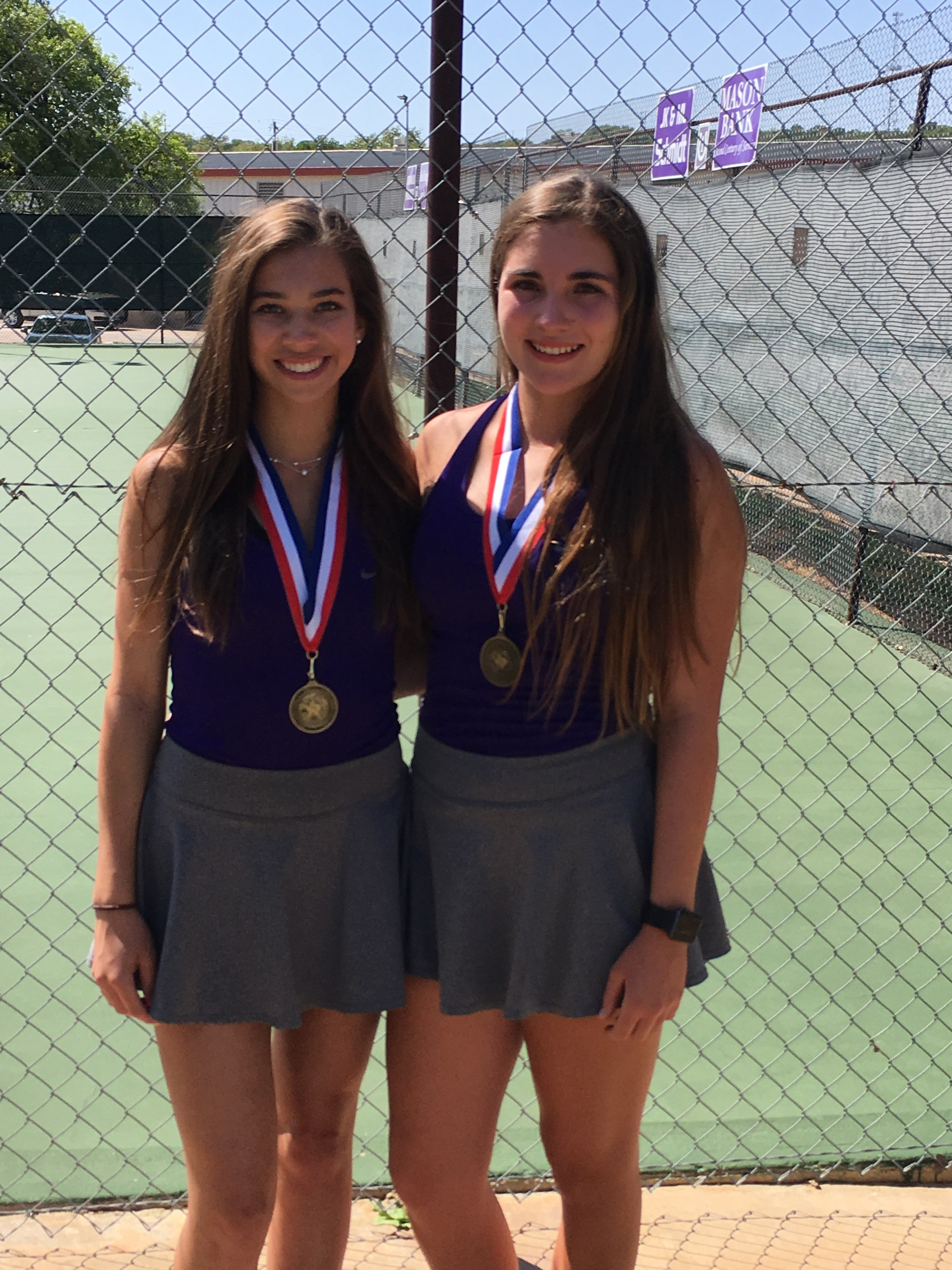 Raegan Glentz & Kate Gillespie - Varsity Girls Doubles Champs