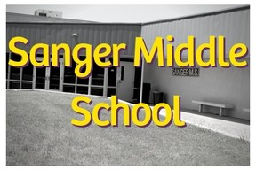 Sanger Middle School  Image and Link To School Web page