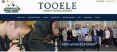 Photo of the front page of Tooele County School District's website