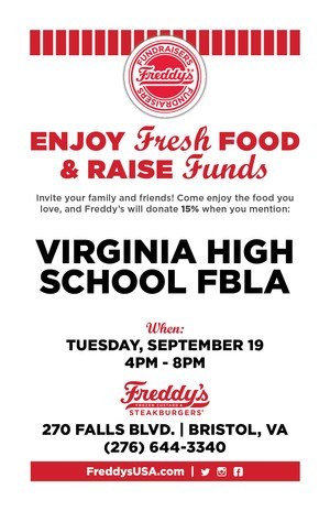Support VHS FBLA at Freddy's Sept. 19th