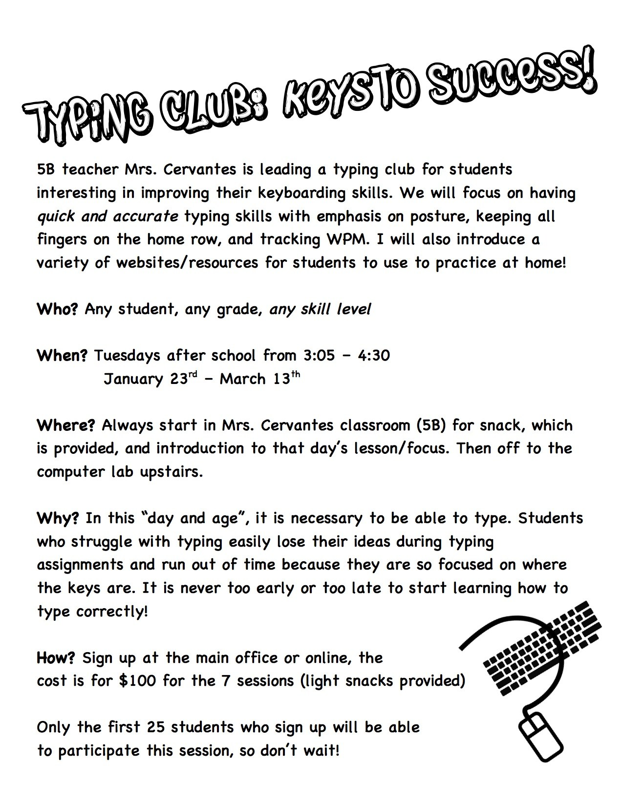 Typing Club Home - Clubs and Activities - St. Louise School