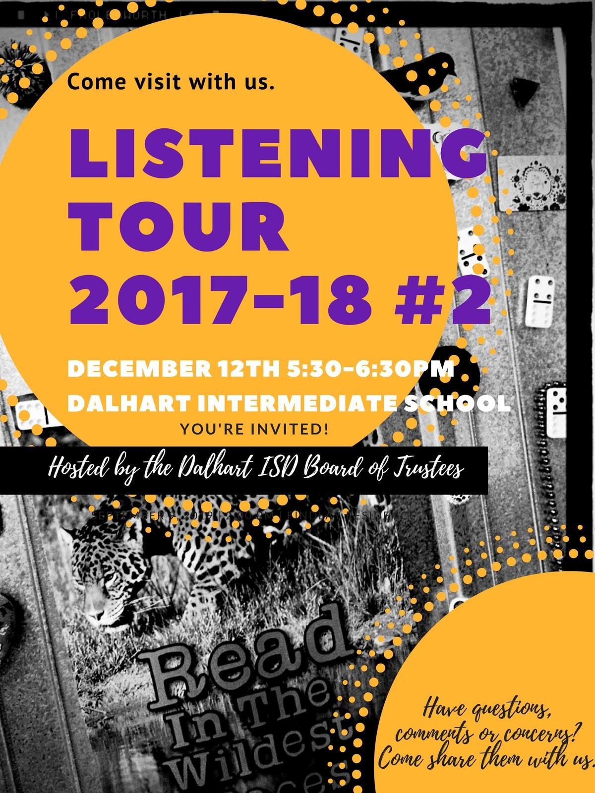Listening Tour #2