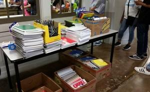 School supplies, GCAA lobby 2017