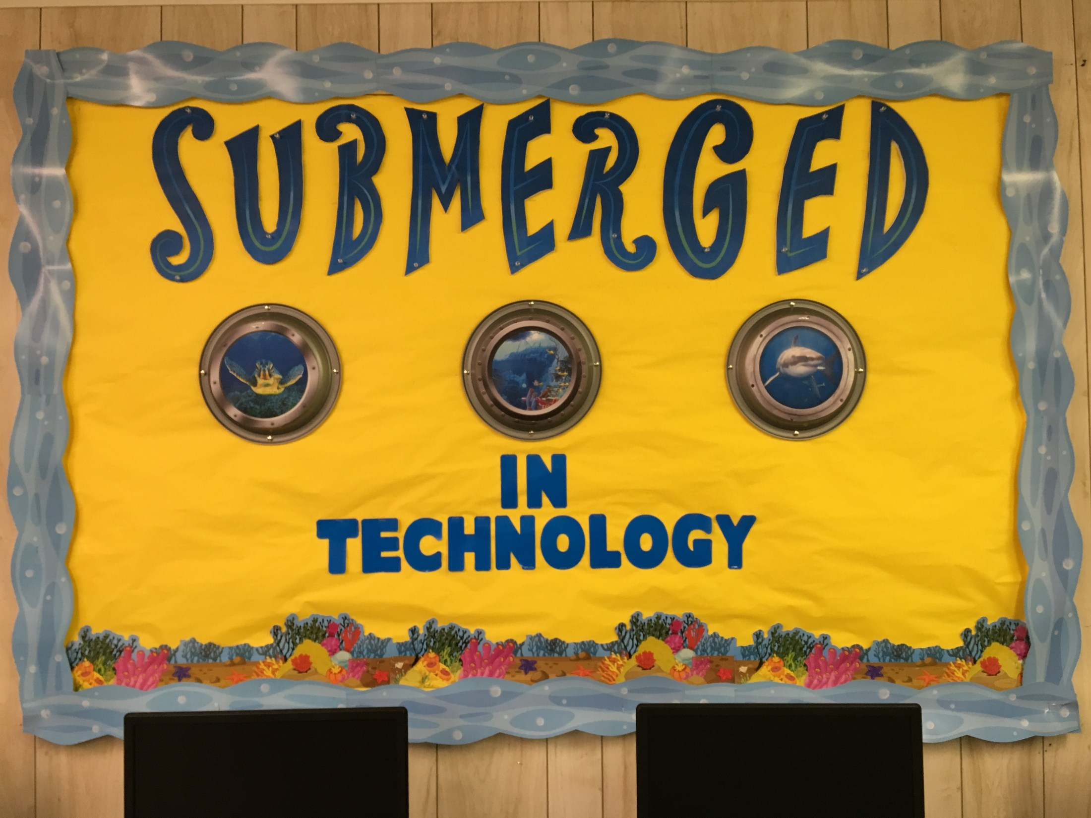 Submerged Theme Bulletin Board