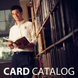 OLSH Library card catalog