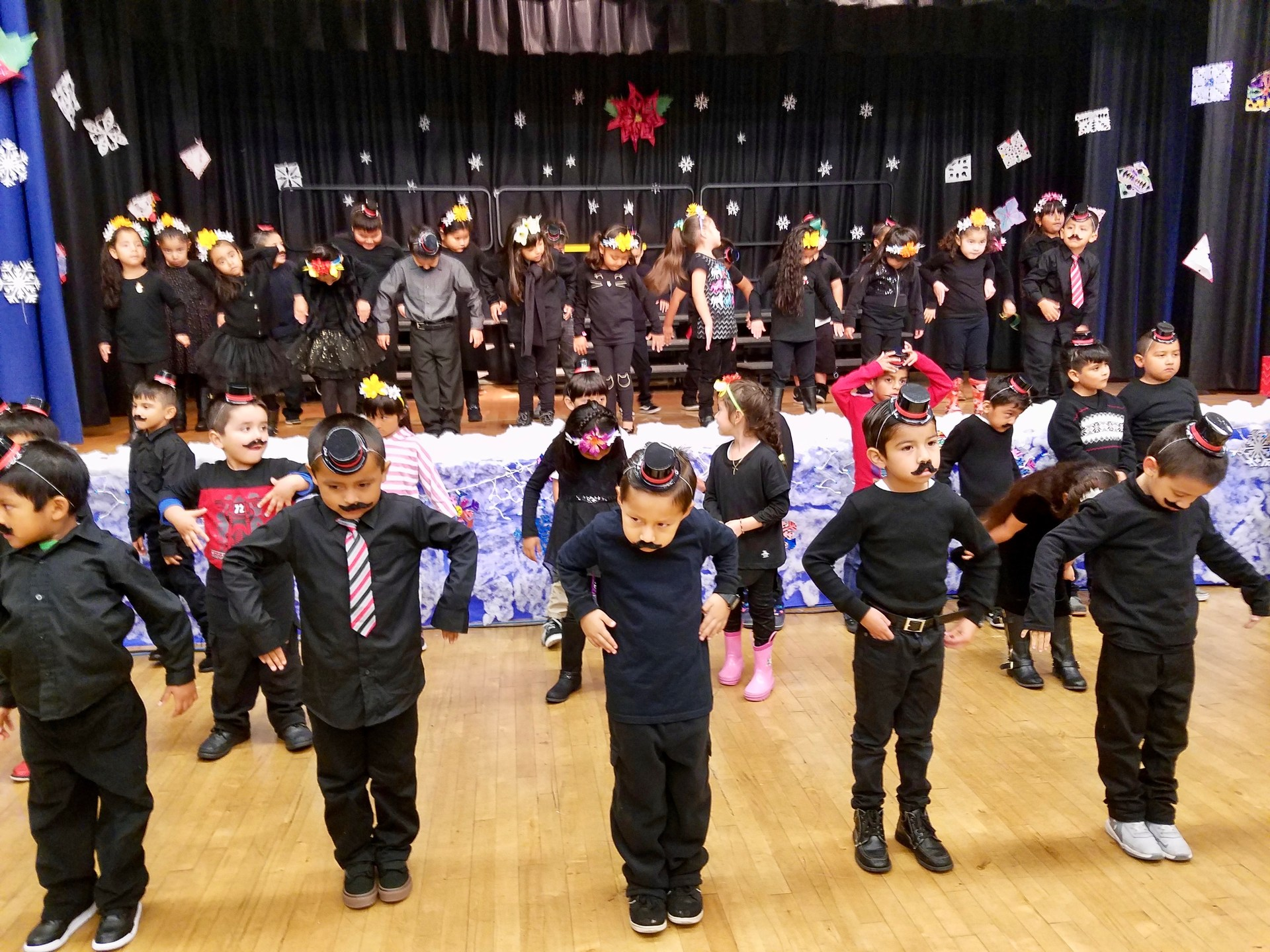 students perform holiday program