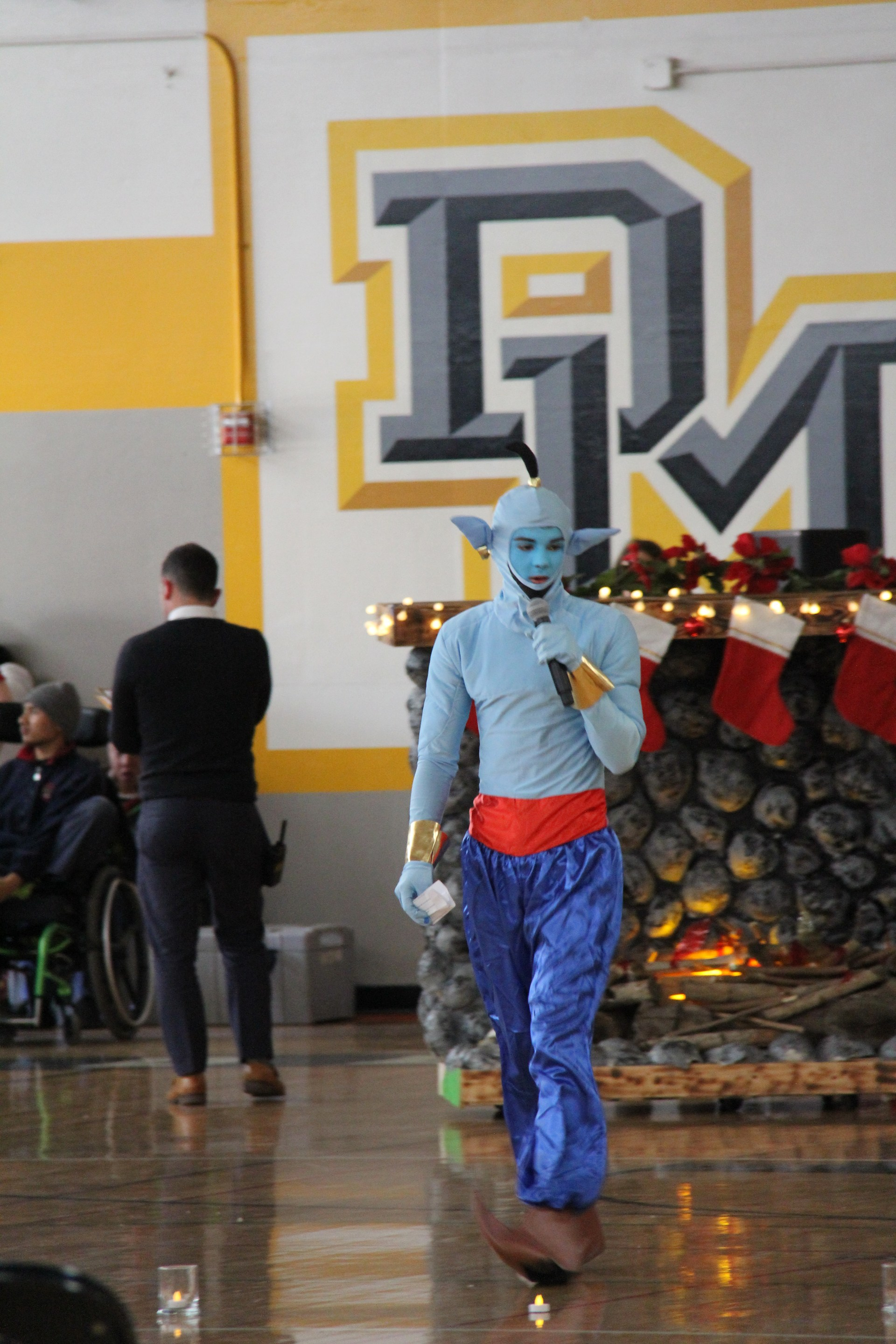 Image of student dressed as genie during 2017 winter wishes event