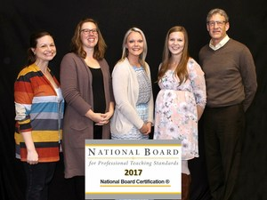 National Board Certified Teachers are pictured at the award ceremony
