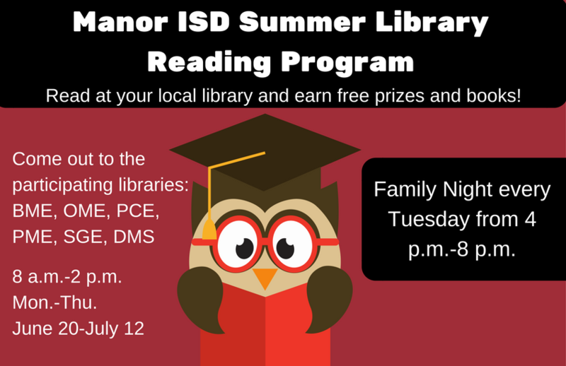 Six Manor ISD Libraries to Operate in the Summer to Support Reading Thumbnail Image