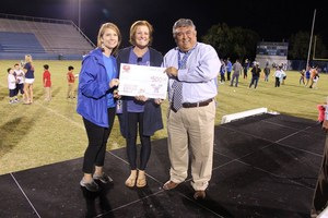 The Fine Arts Academy won $500 for its PE Department.