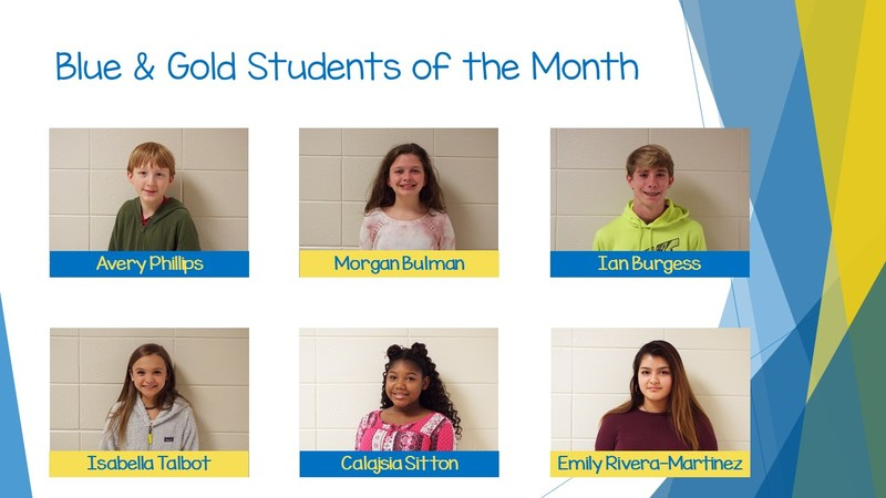 Blue & Gold Students of the Month