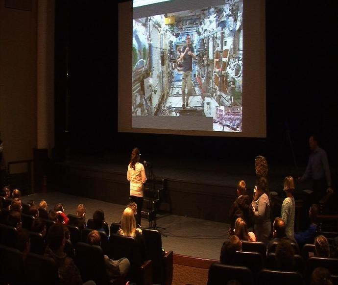 Upshur students Skype with an Astronaut