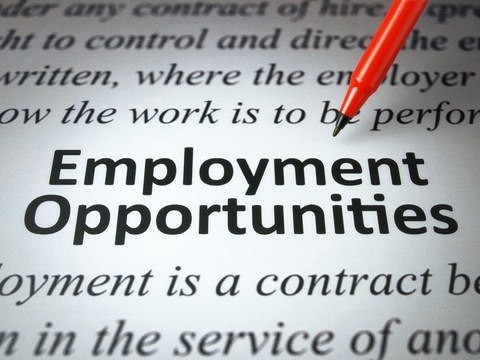 Picture of Newspaper with print that says Employment Opportunities