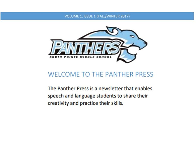 """Speech creates their first newsletter"