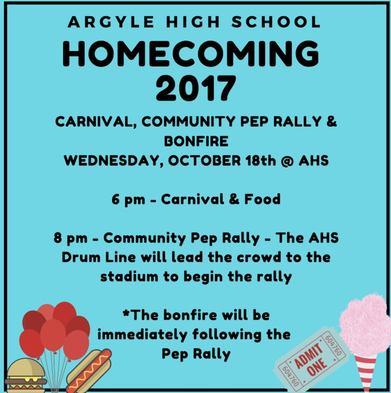 THE HOMECOMING COMMUNITY CARNIVAL, PEP RALLY & BONFIRE - WEDNESDAY, OCTOBER 18TH Thumbnail Image