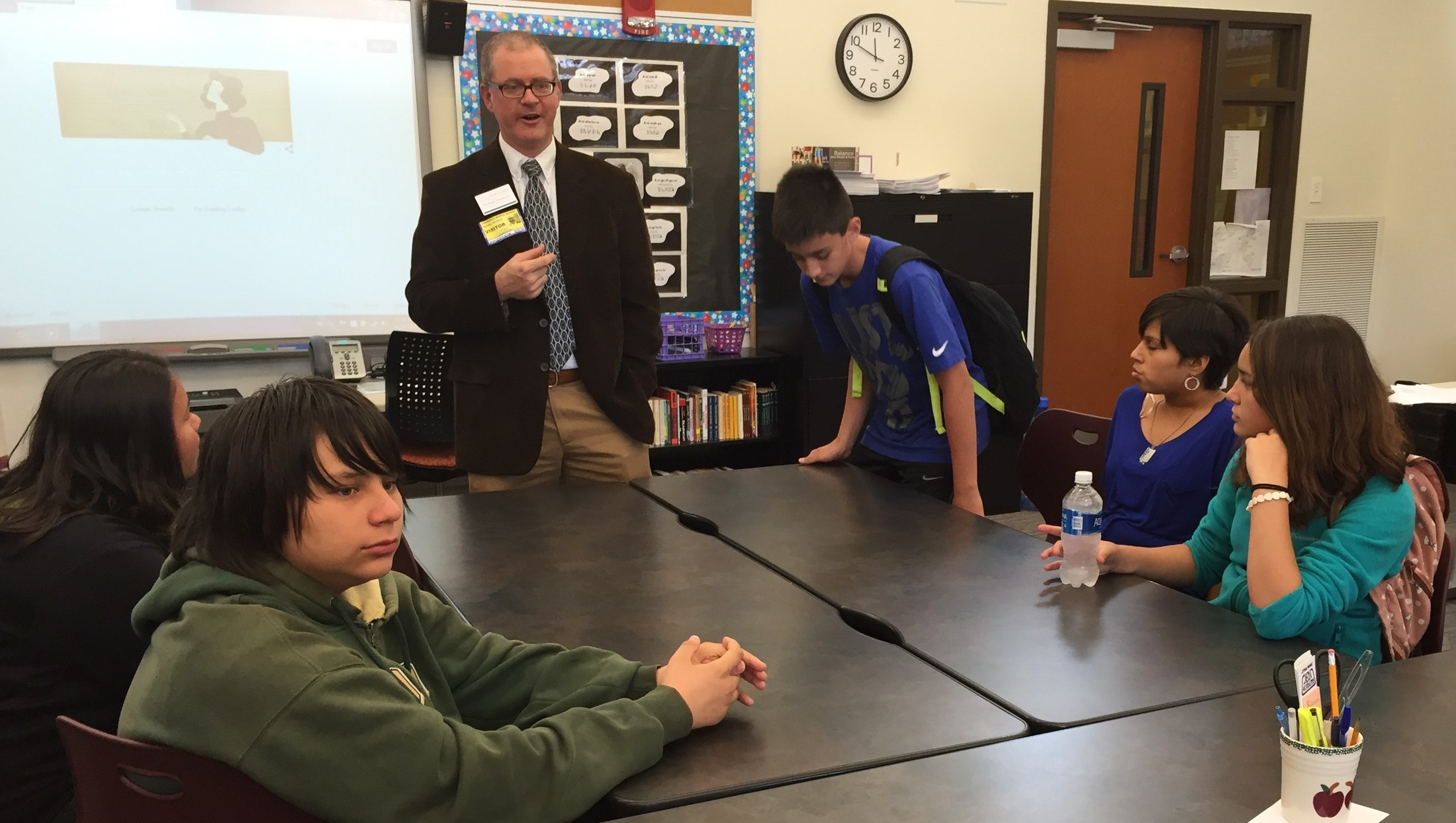 CMS Students Meet with SCC's Director of Career Services Michael Despeaux