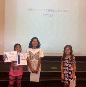NCLUSD Speling Bee Winners who will advance to the county spelling bee