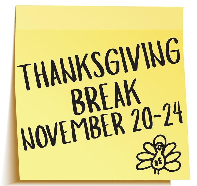 Thanksgiving Break is November 20-24 Thumbnail Image