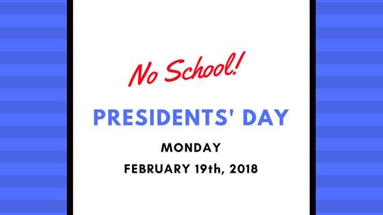 No School - Monday, February 19th Thumbnail Image