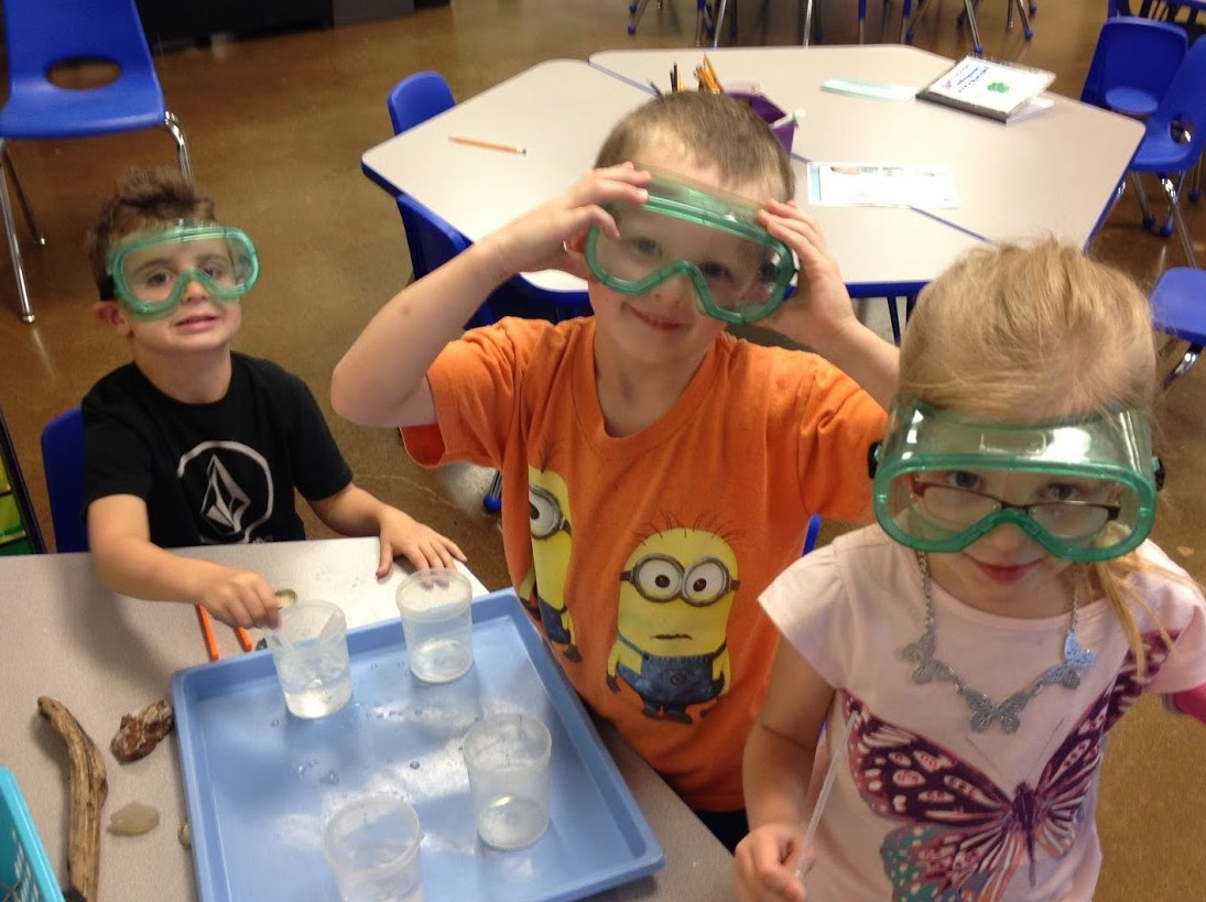 elementary with goggles