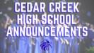 CCHS Announcements
