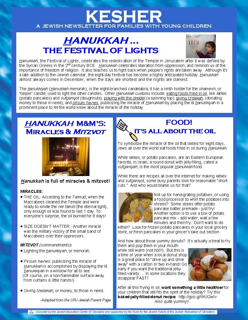 Holiday Newsletters Holiday Newsletters Jewish Education – Holiday Newsletter