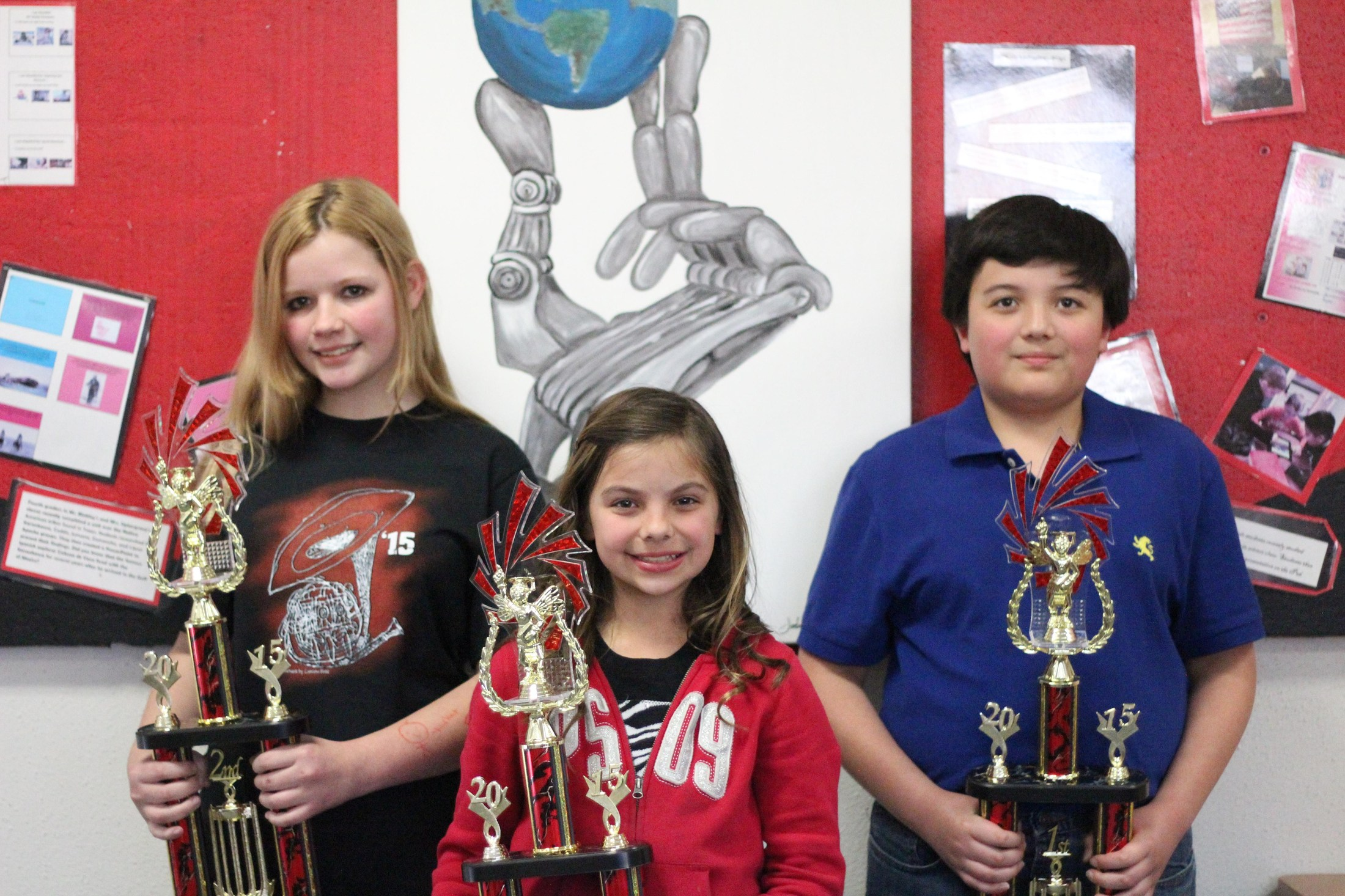 Students that won the MWISD Regional Spelling Bee
