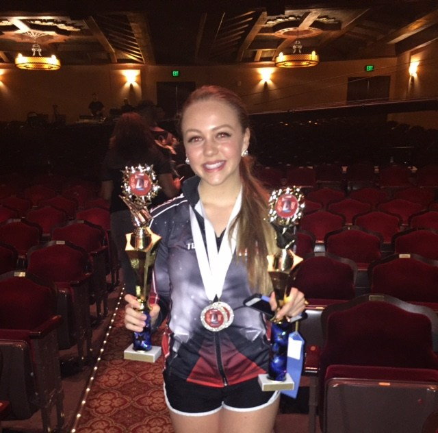 Student with dance awards
