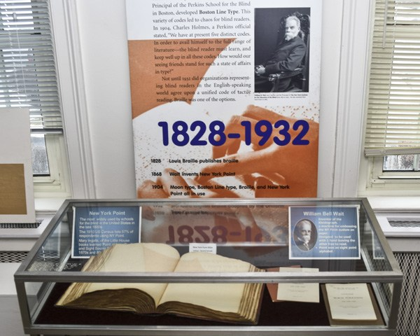 view of the display case housing the bible volume