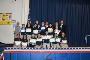 High Honors Classroom with certificates