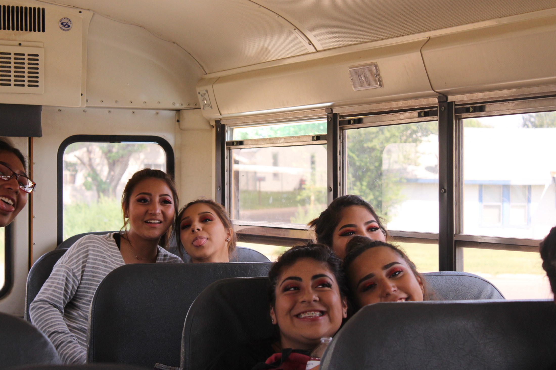 Riding on the bus