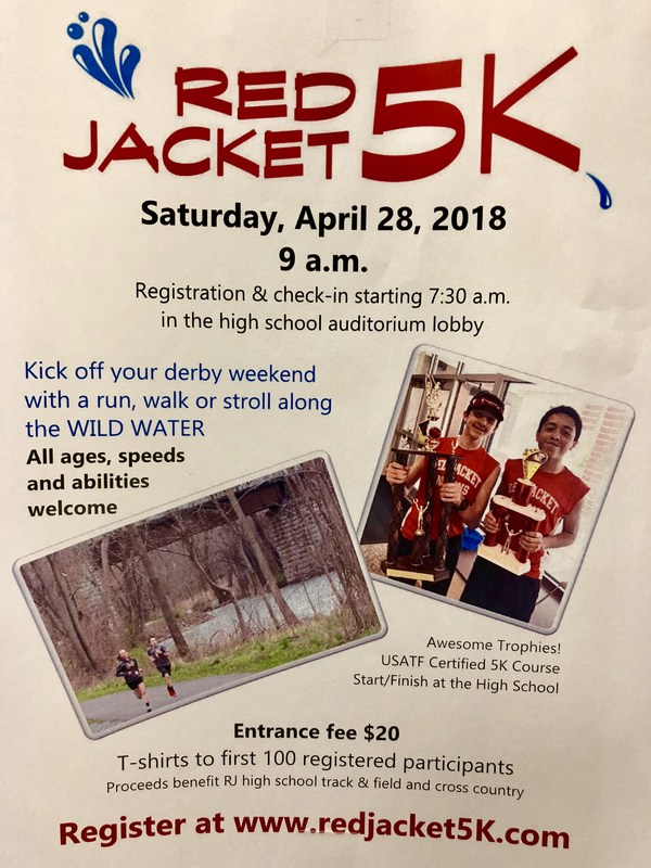 Red Jacket 5K is this Saturday, April 28