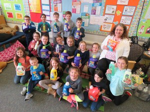 Lee third grade students donated items for Barry County Cares.