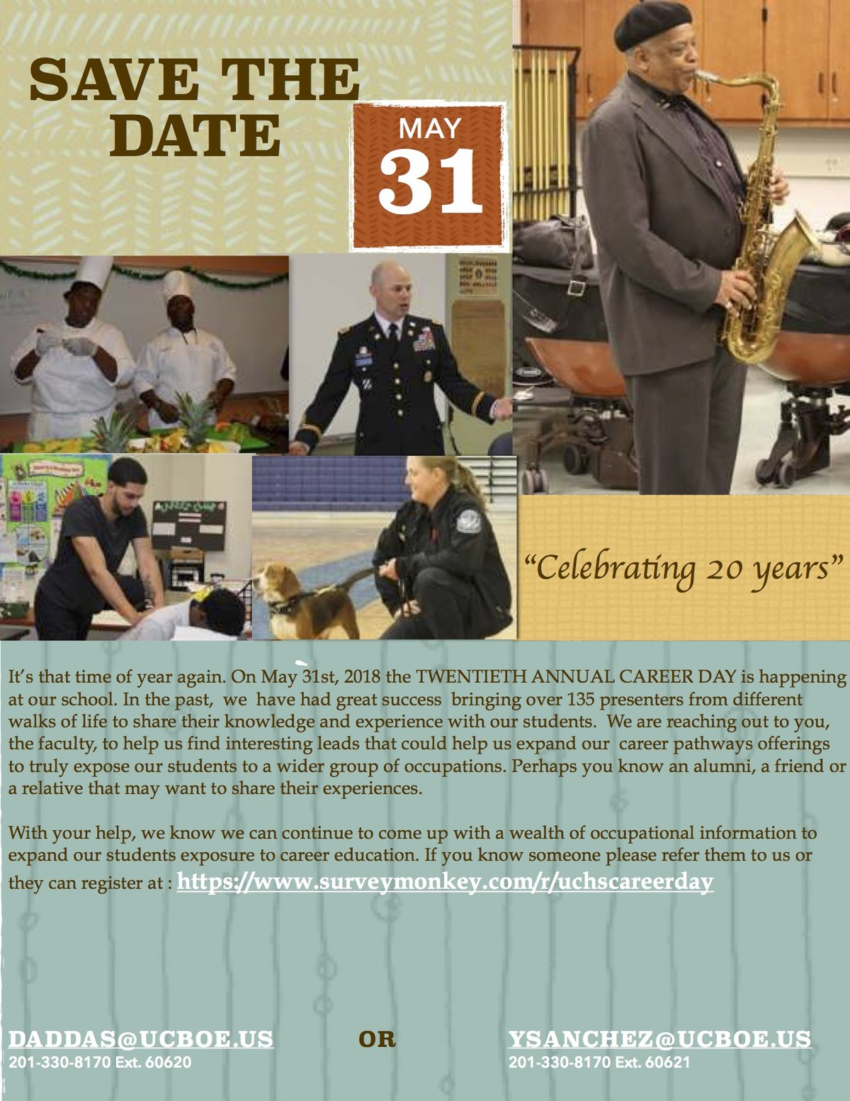 career Day Save the date flyer