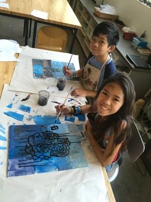 Summer workshop art participants 2017 painting
