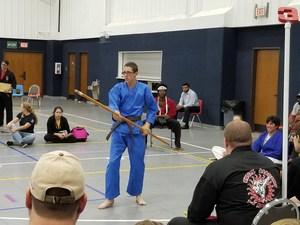 karate student at tournament