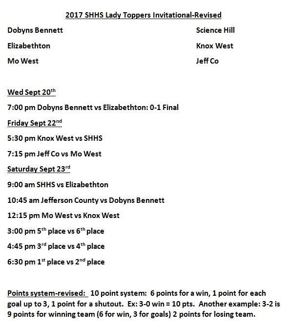 SHHS Schedule