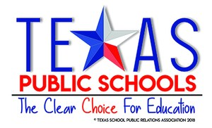 Texas Public Schools logo which is The Clear Choice in Education.