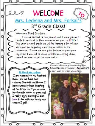 Mrs. Ledvina's Information