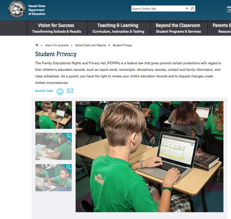 HIDOEʻs Student Information Privacy Thumbnail Image