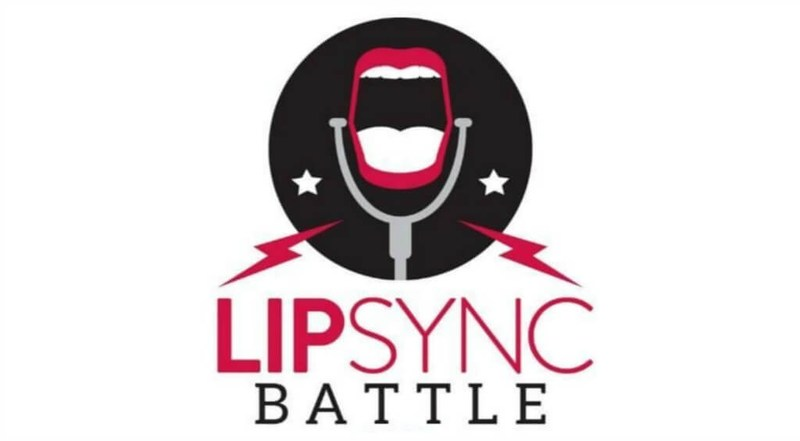Open mouth at a microphone with lightning bolts and the words Lip Sync Battle.