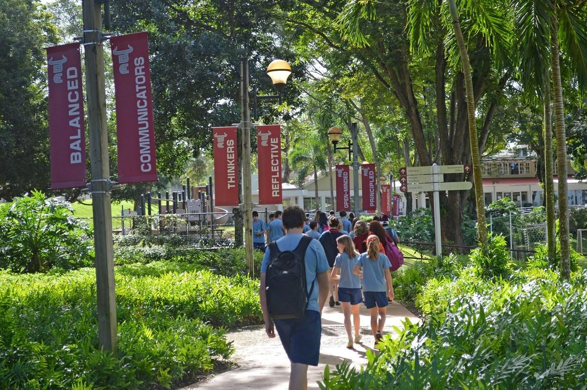IB walkway at Baldwin School