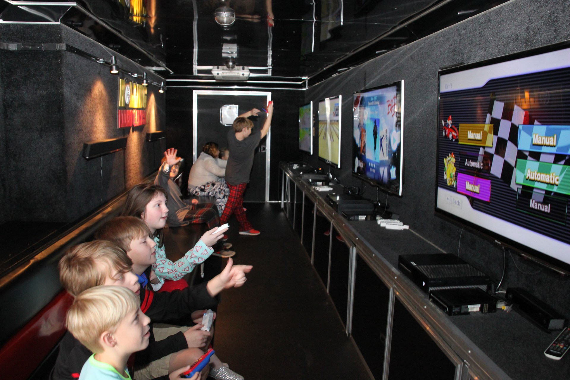 Students Playing in Video Truck