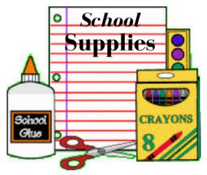 clip art of school supplies