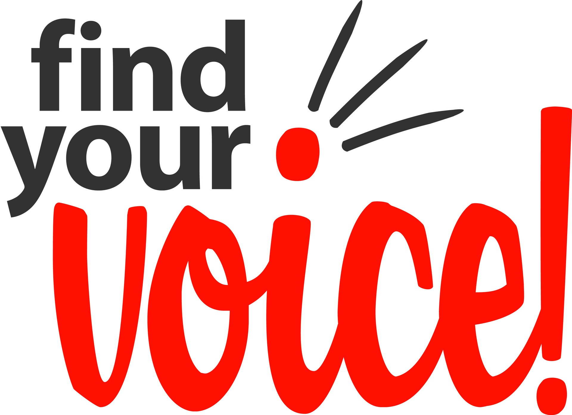 Find your voice graphic