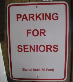 Parking For Seniors sign