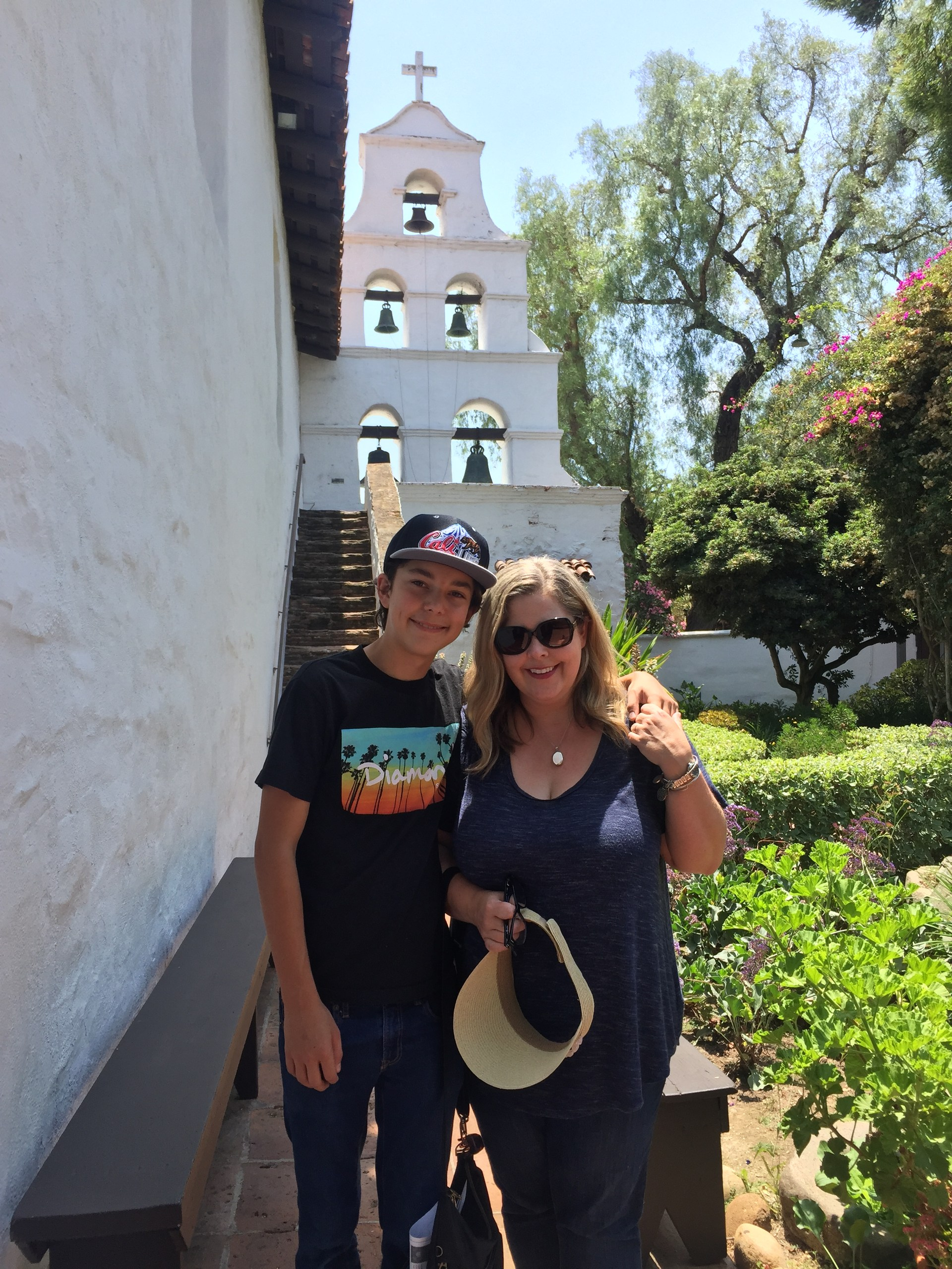 Mrs. Horton with Son at Mission SD